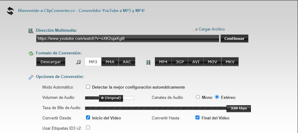 ClipConverter descargar música gratis