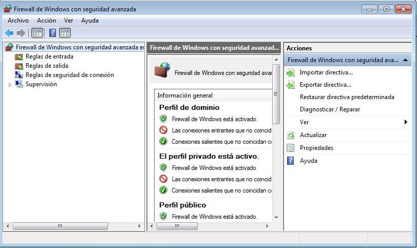 cómo configurar el cortafuegos Firewall de Windows