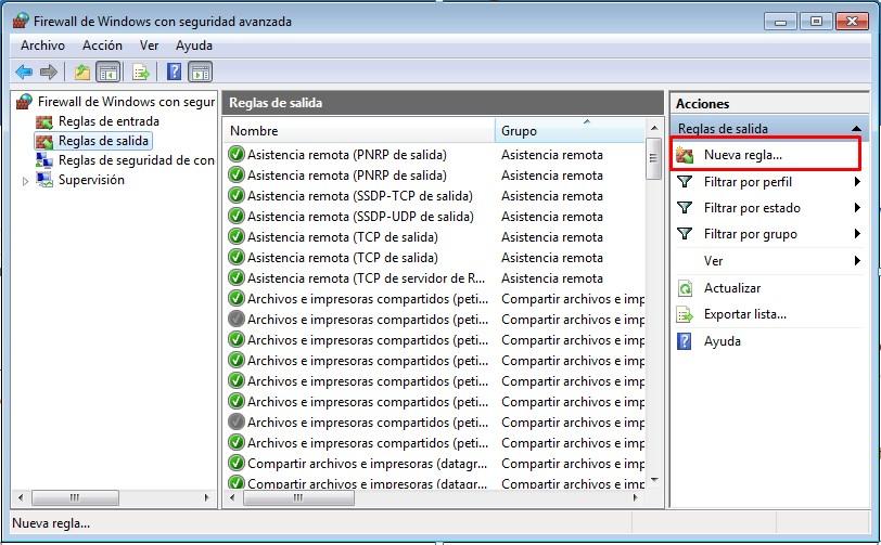 Configurar Firewall de Windows