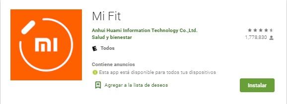 Mi Fit App en Google Play Store