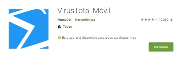 VirusTotal para Android