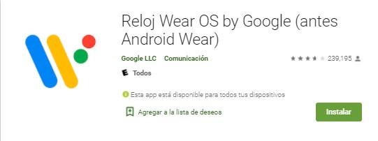 Wear OS de Google