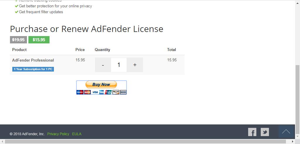 comprar adfender licencia bloquear publicidad