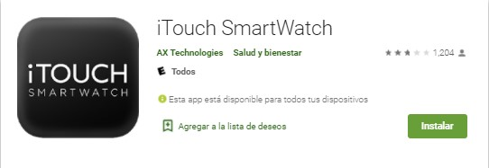 iTouch SmartWatch para Android
