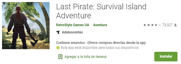 Last Pirate: Survival Island Adventure en Android