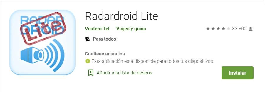 Radardroid de Android