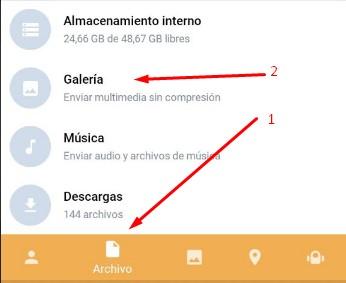 Como enviar fotos sin compresión en Telegram