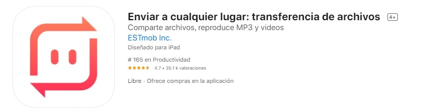 App para transferir archivos
