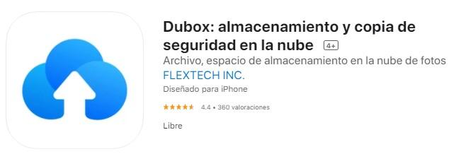 Dubox en iOS