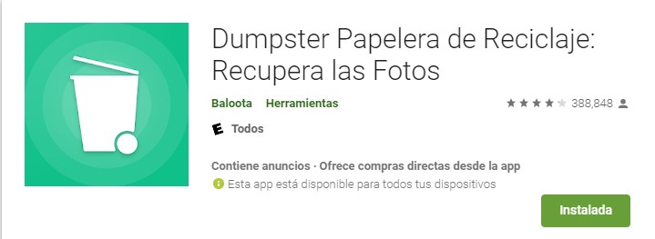 Papelera de reciclaje App
