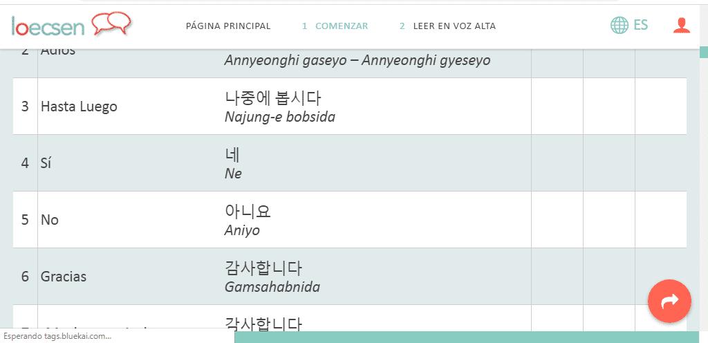 diferentes cursos online del idioma coreano